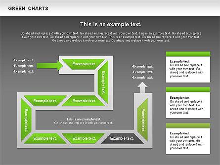 Process Green Chart, Slide 14, 00946, Shapes — PoweredTemplate.com