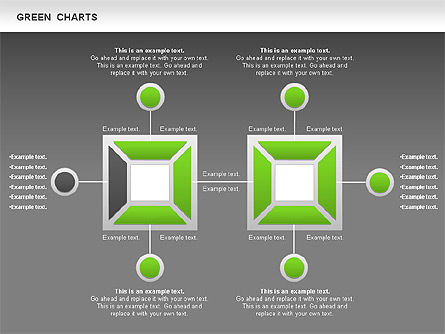 Process Green Chart, Slide 15, 00946, Shapes — PoweredTemplate.com