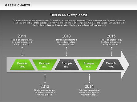 Process Green Chart, Slide 16, 00946, Shapes — PoweredTemplate.com