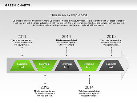 Process Green Chart, Slide 5, 00946, Shapes — PoweredTemplate.com