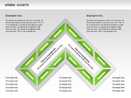 Process Green Chart, Slide 6, 00946, Shapes — PoweredTemplate.com