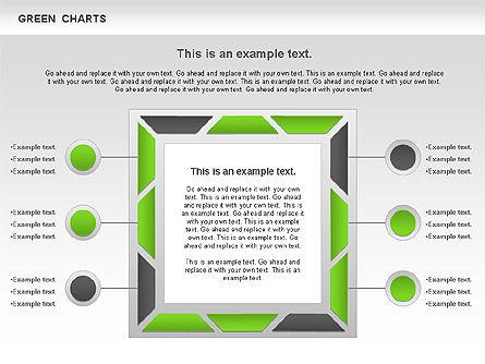 Process Green Chart, Slide 7, 00946, Shapes — PoweredTemplate.com