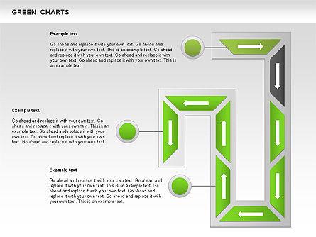 Process Green Chart, Slide 8, 00946, Shapes — PoweredTemplate.com