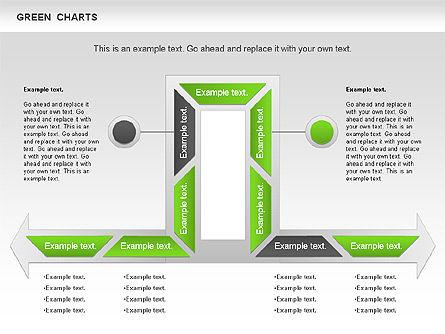 Process Green Chart, Slide 9, 00946, Shapes — PoweredTemplate.com