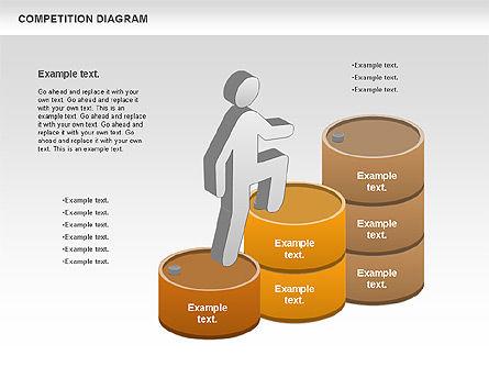 Competition Diagram , Slide 3, 00948, Business Models — PoweredTemplate.com