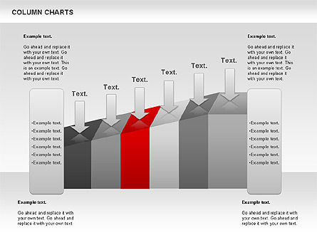 Column Chart, Slide 4, 00949, Business Models — PoweredTemplate.com