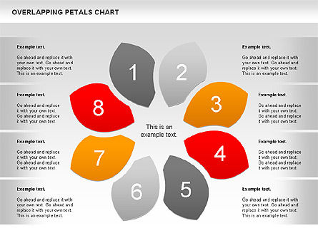 Overlapping Petals Diagram, 00950, Stage Diagrams — PoweredTemplate.com