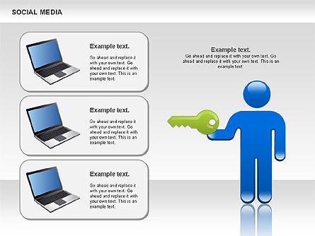 Social Media Shapes, Slide 2, 00952, Shapes — PoweredTemplate.com