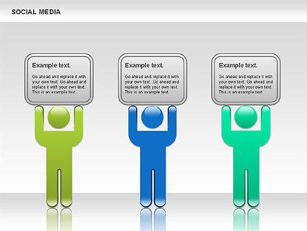 Social Media Shapes, Slide 3, 00952, Shapes — PoweredTemplate.com