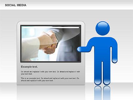 Social Media Shapes, Slide 4, 00952, Shapes — PoweredTemplate.com