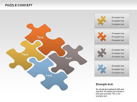 Puzzle Chart, Slide 3, 00954, Puzzle Diagrams — PoweredTemplate.com