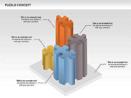 Puzzle Chart, Slide 4, 00954, Puzzle Diagrams — PoweredTemplate.com