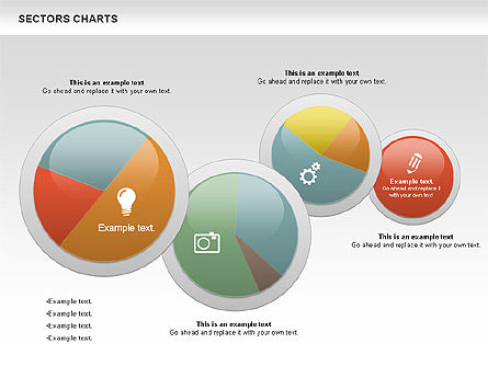 Sectors Chart, Slide 10, 00955, Pie Charts — PoweredTemplate.com