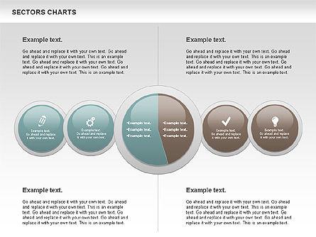 Sectors Chart, Slide 11, 00955, Pie Charts — PoweredTemplate.com