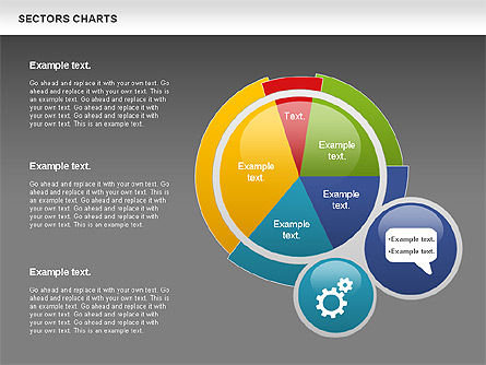 Sectors Chart, Slide 12, 00955, Pie Charts — PoweredTemplate.com