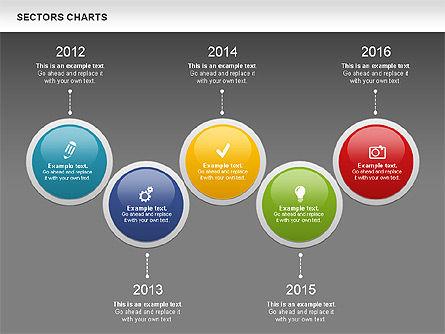 Sectors Chart, Slide 13, 00955, Pie Charts — PoweredTemplate.com