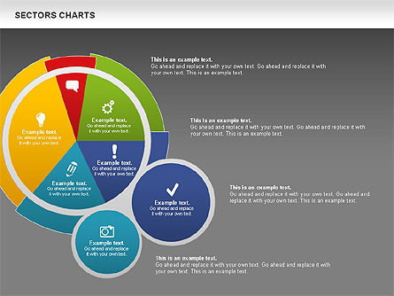 Sectors Chart, Slide 14, 00955, Pie Charts — PoweredTemplate.com