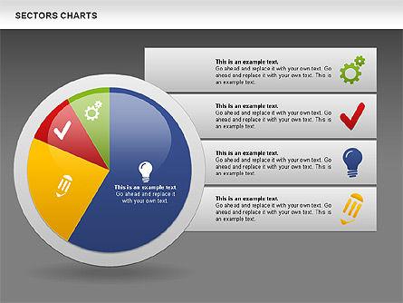 Sectors Chart, Slide 15, 00955, Pie Charts — PoweredTemplate.com