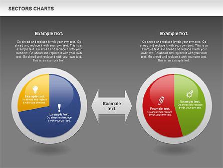 Sectors Chart, Slide 16, 00955, Pie Charts — PoweredTemplate.com
