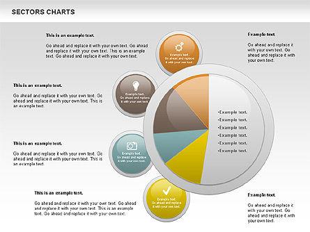 Sectors Chart, Slide 7, 00955, Pie Charts — PoweredTemplate.com