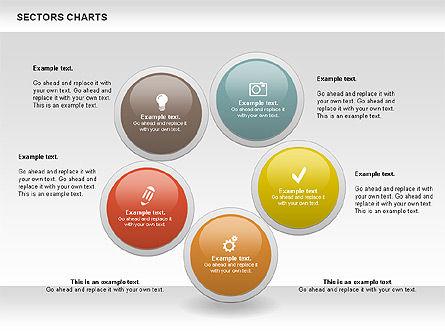 Sectors Chart, Slide 8, 00955, Pie Charts — PoweredTemplate.com