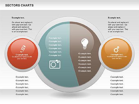 Sectors Chart, Slide 9, 00955, Pie Charts — PoweredTemplate.com