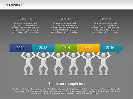 Teamwork Timeline Diagram, Slide 12, 00956, Timelines & Calendars — PoweredTemplate.com