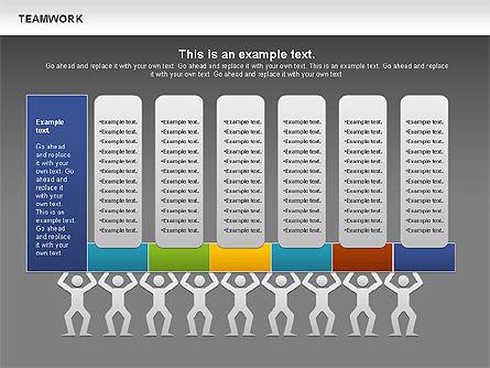 Teamwork Timeline Diagram, Slide 14, 00956, Timelines & Calendars — PoweredTemplate.com