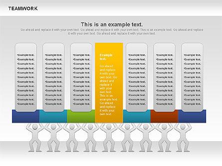 Teamwork Timeline Diagram, Slide 6, 00956, Timelines & Calendars — PoweredTemplate.com
