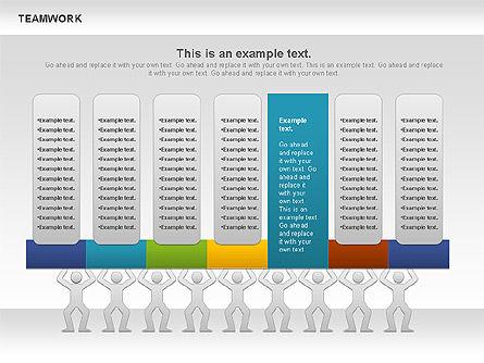 Teamwork Timeline Diagram, Slide 7, 00956, Timelines & Calendars — PoweredTemplate.com