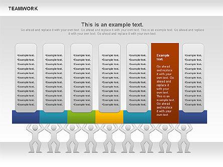 Teamwork Timeline Diagram, Slide 8, 00956, Timelines & Calendars — PoweredTemplate.com