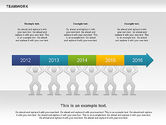 Timelines & Calendars: Teamwork Timeline Diagram #00956