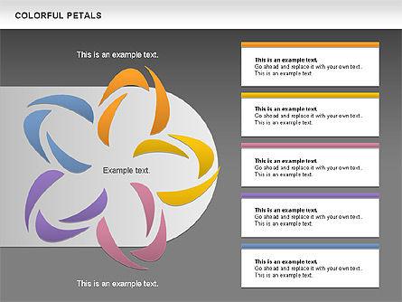 Colorful Petals Chart, Slide 10, 00960, Timelines & Calendars — PoweredTemplate.com