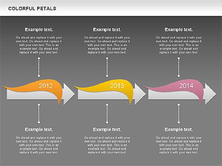 Colorful Petals Chart, Slide 11, 00960, Timelines & Calendars — PoweredTemplate.com