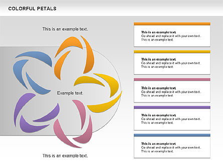 Colorful Petals Chart, Slide 2, 00960, Timelines & Calendars — PoweredTemplate.com