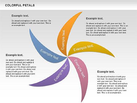 Colorful Petals Chart, Slide 3, 00960, Timelines & Calendars — PoweredTemplate.com