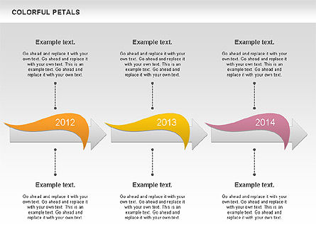 Colorful Petals Chart, Slide 4, 00960, Timelines & Calendars — PoweredTemplate.com