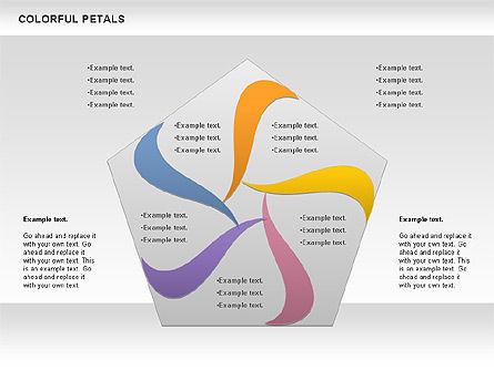 Colorful Petals Chart, Slide 5, 00960, Timelines & Calendars — PoweredTemplate.com