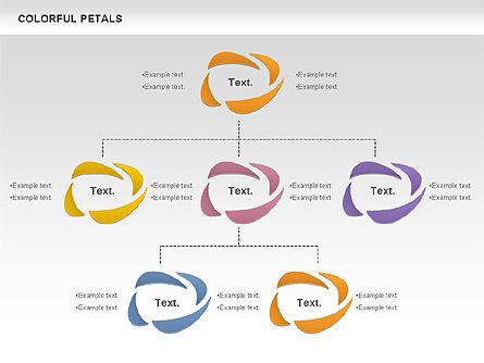 Colorful Petals Chart, Slide 6, 00960, Timelines & Calendars — PoweredTemplate.com