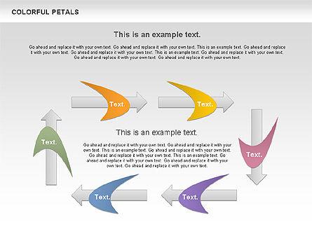 Colorful Petals Chart, Slide 7, 00960, Timelines & Calendars — PoweredTemplate.com