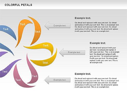 Colorful Petals Chart, Slide 8, 00960, Timelines & Calendars — PoweredTemplate.com