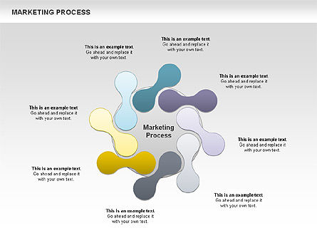 Marketing Process Concept Diagram, 00961, Business Models — PoweredTemplate.com