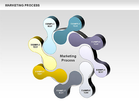 Marketing Process Concept Diagram, Slide 2, 00961, Business Models — PoweredTemplate.com