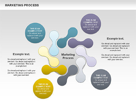 Marketing Process Concept Diagram, Slide 3, 00961, Business Models — PoweredTemplate.com