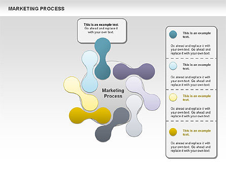 Marketing Process Concept Diagram, Slide 4, 00961, Business Models — PoweredTemplate.com