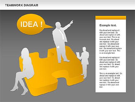 Teamwork with Puzzles, Slide 10, 00964, Business Models — PoweredTemplate.com