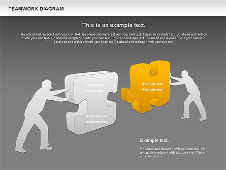 Teamwork with Puzzles, Slide 11, 00964, Business Models — PoweredTemplate.com