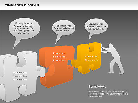 Teamwork with Puzzles, Slide 12, 00964, Business Models — PoweredTemplate.com