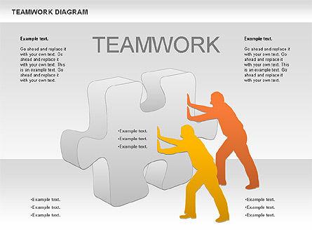 Teamwork with Puzzles, Slide 5, 00964, Business Models — PoweredTemplate.com