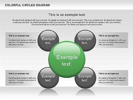 Colorful Circles Diagram, Slide 3, 00966, Shapes — PoweredTemplate.com